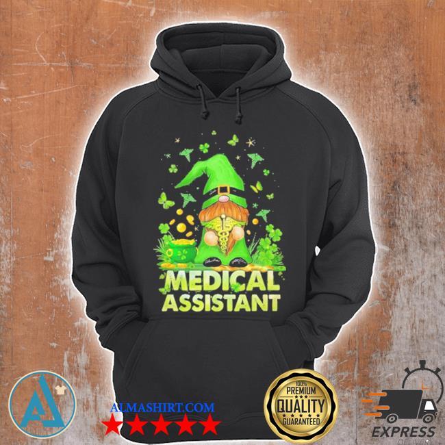 Gnome hug Nurse medical assistant Irish s Unisex Hoodie