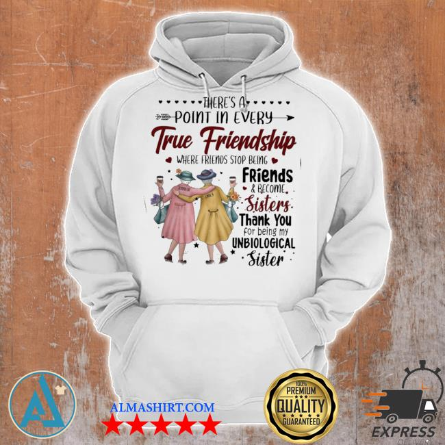 There's a point In every true friendship s Unisex Hoodie