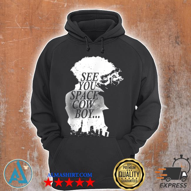 Black and White Cowboy Anime Characters Design Arts s Unisex Hoodie
