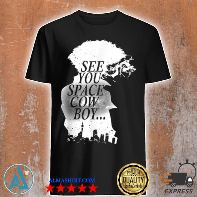 Black and White Cowboy Anime Characters Design Arts shirt
