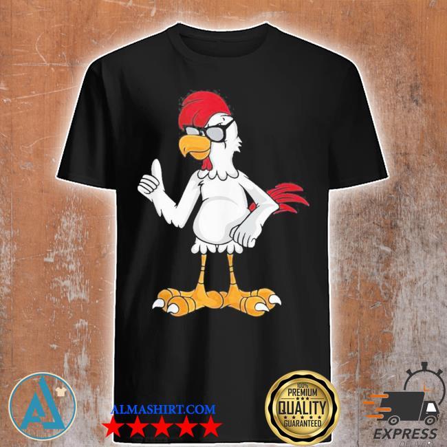 Cool chicken black sunglasses farmers new 2021 shirt