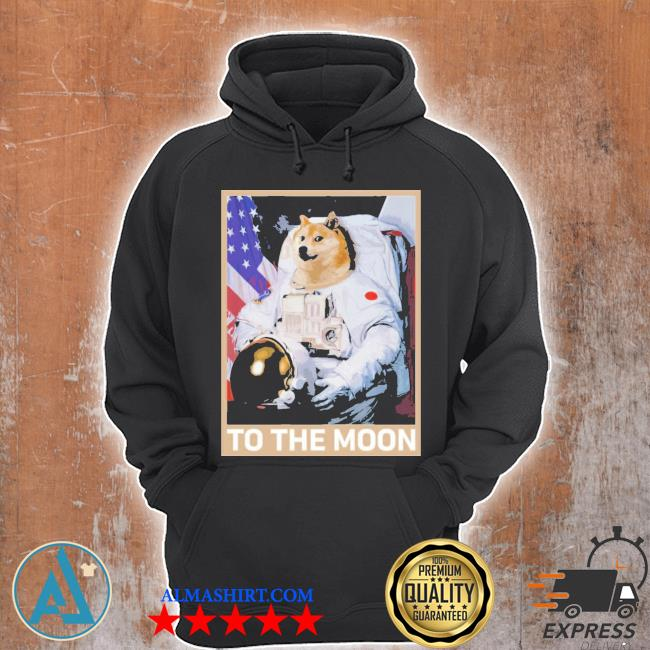 Dogecoin astronaut to the moon blockchain hold crypto new 2021 s Unisex Hoodie