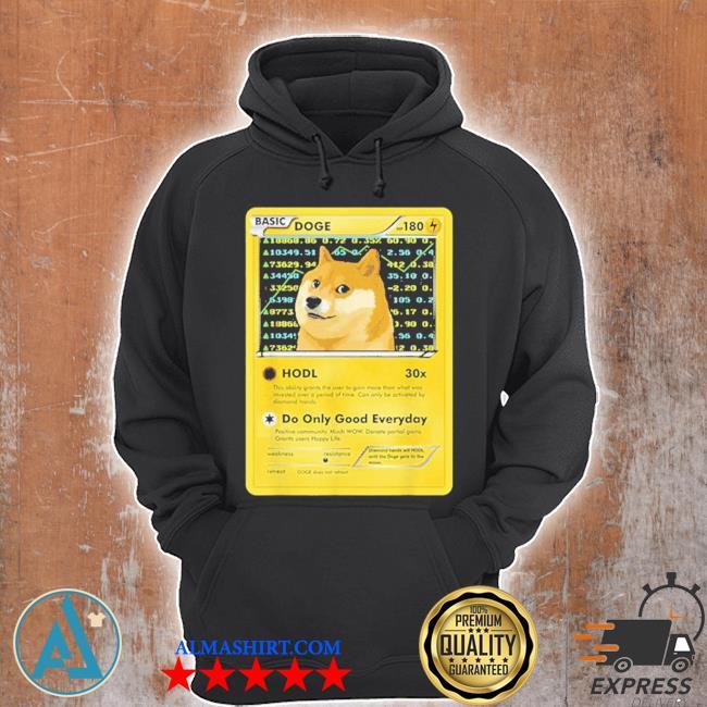Dogecoin doge hodl card crypto meme new 2021 s Unisex Hoodie