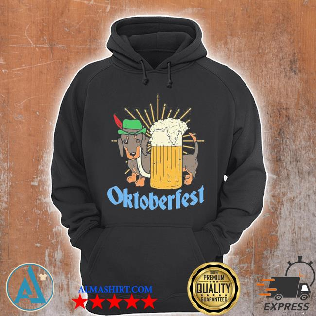 Funny Oktoberfest German Dachshund Dog Drinking Beer new 2021 Shirt Unisex Hoodie