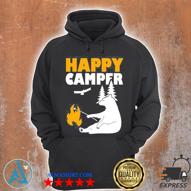 Happy camper camping bear for men women and kids s Unisex Hoodie