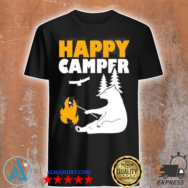 Happy camper camping bear for men women and kids shirt