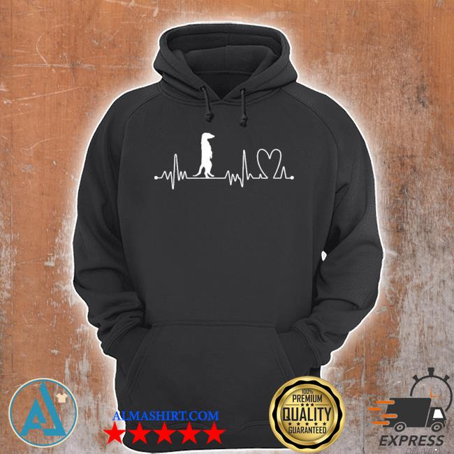 Heartbeat heart beat frequency ecg meerkat new 2021 s Unisex Hoodie
