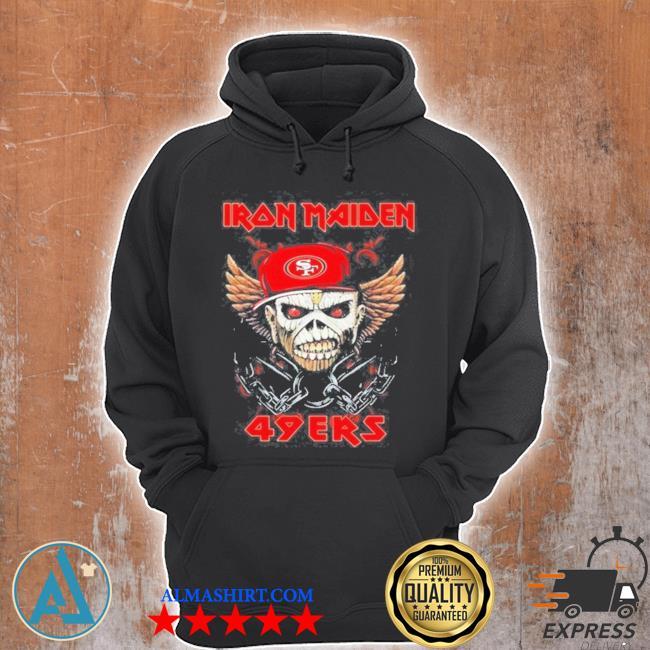 Iron maiden skull san francisco 49ers s Unisex Hoodie