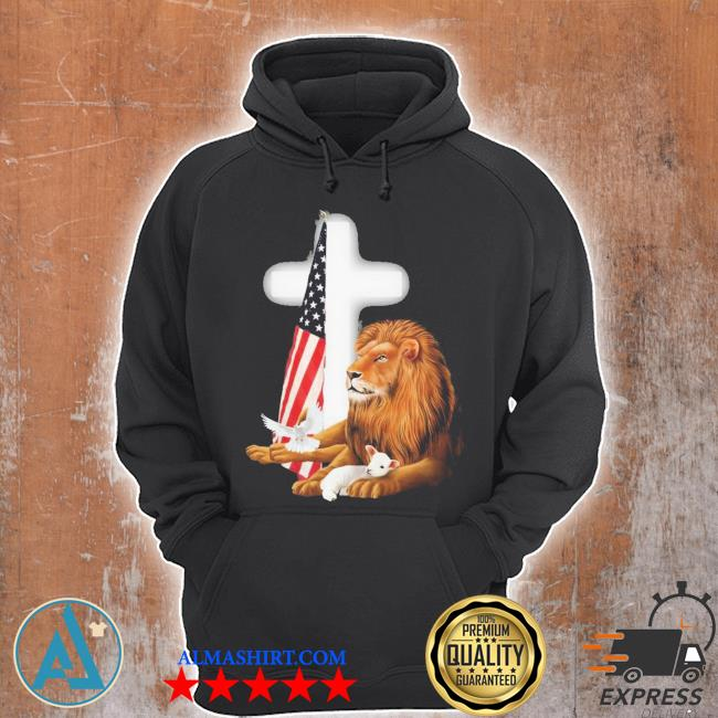 Lion and american flag new 2021 s Unisex Hoodie