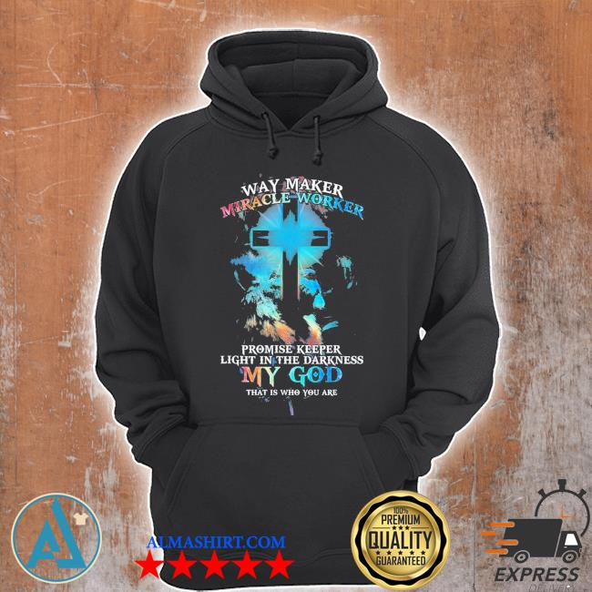 Lion cross light colorful waymaker miracle worker s Unisex Hoodie