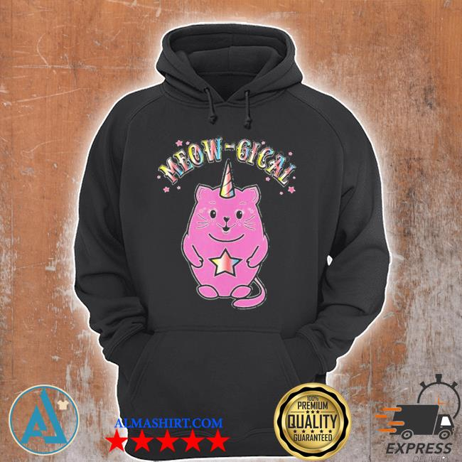 Meowgical caticorn magical cute cat unicorn new 2021 s Unisex Hoodie