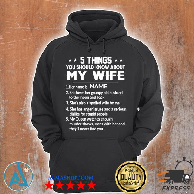 Personalized funny 5 things you should know about my wife gift for husband gift for dad family s Unisex Hoodie