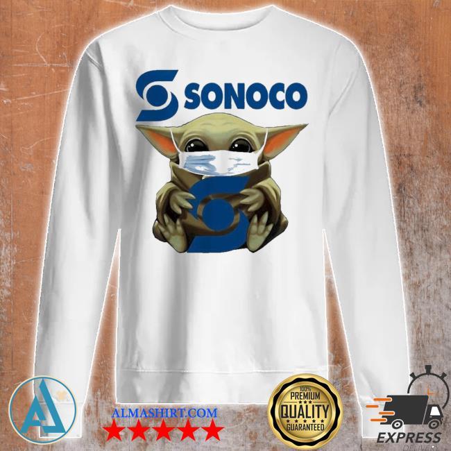 Pretty Star wars baby Yoda hug sonoco covid 19 s Unisex sweatshirt