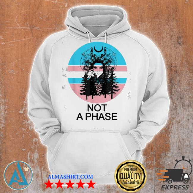 Pretty transgender pride not a phase trans butterfly moon s Unisex Hoodie