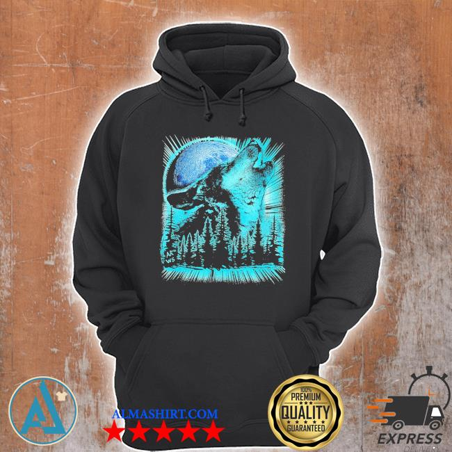 Psychedelic wolf howling at the moon for wolfs new 2021 s Unisex Hoodie