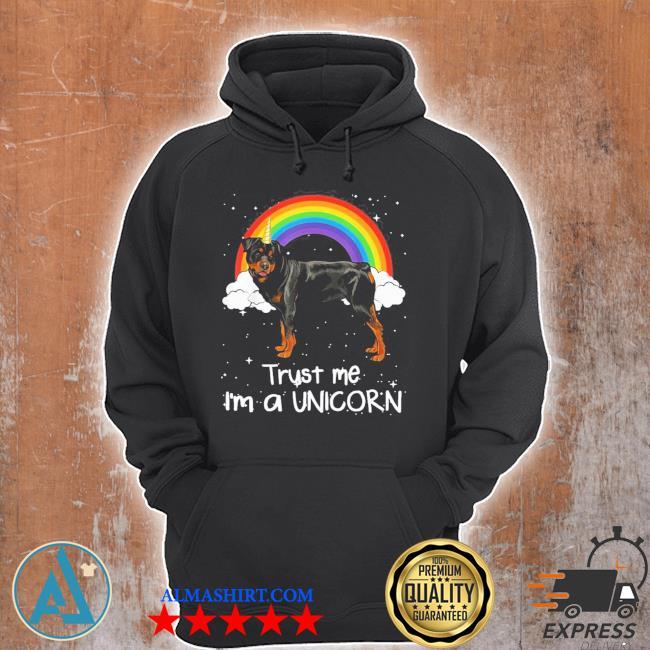 Rainbow Rottweiler trust me I'm a unicorn dog new 2021 s Unisex Hoodie