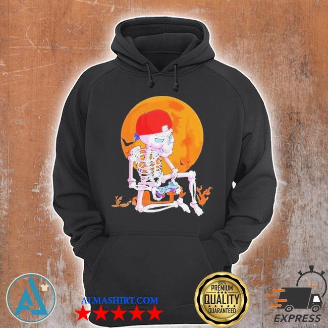 Skeleton boys gamer halloween s Unisex Hoodie