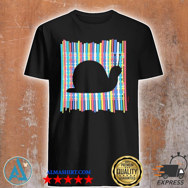 Snail pastel rainbow striped vintage retro aesthetic new 2021 shirt