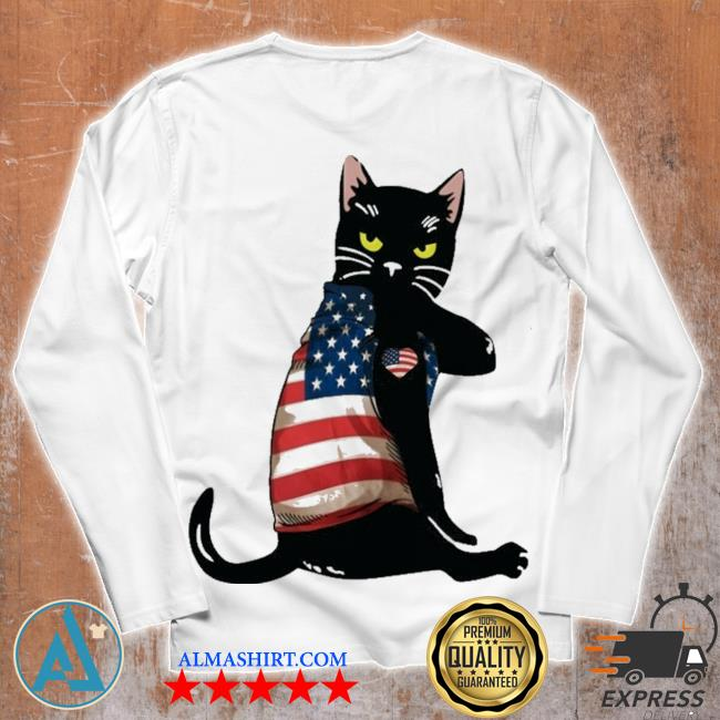 Strong cat patriotic s Unisex longsleeve