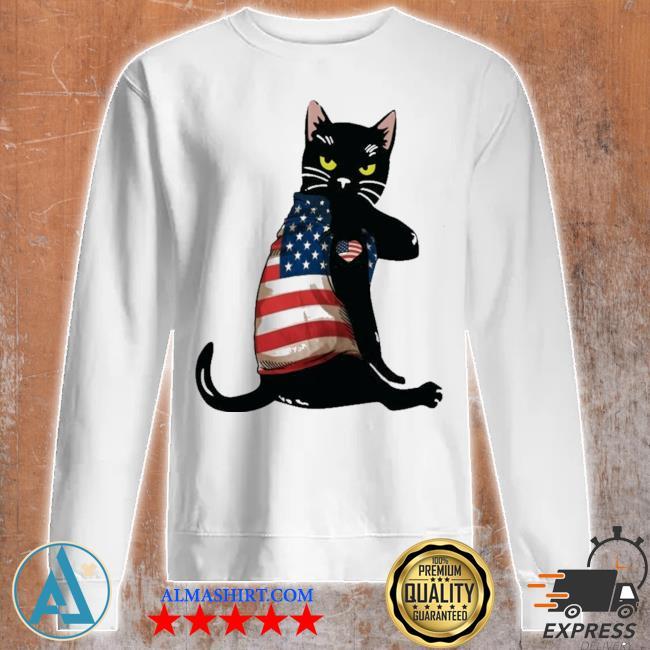 Strong cat patriotic s Unisex sweatshirt