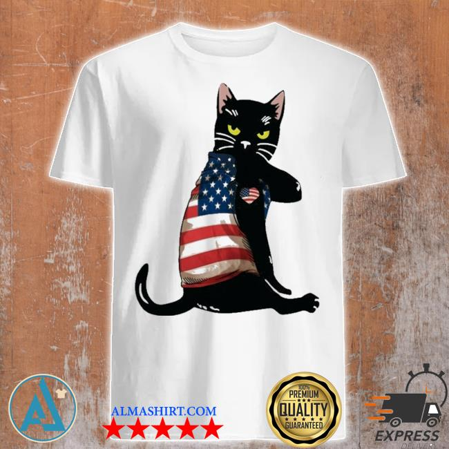 Strong cat patriotic shirt