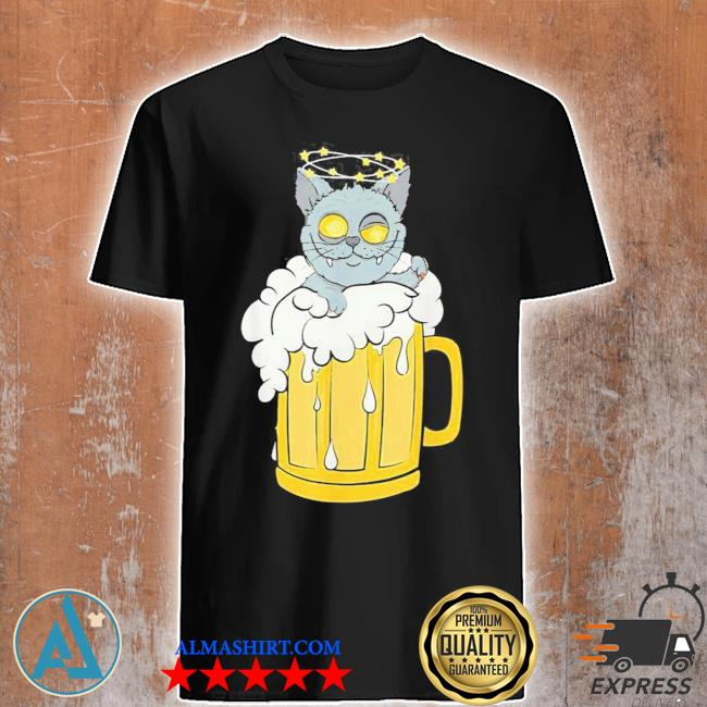 Tu cat beer drinking party costume dog new 2021 shirt