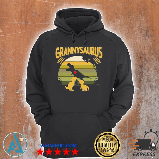 Vintage retro 2 granny saurus dinosaur new 2021 s Unisex Hoodie