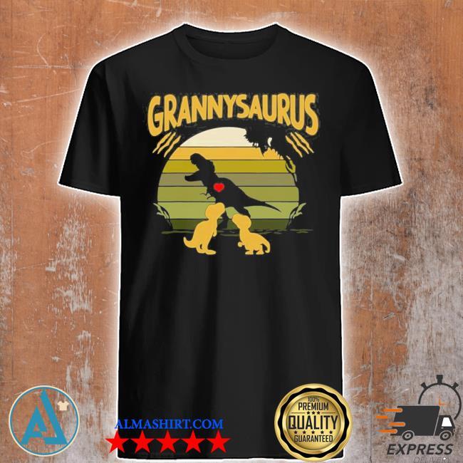 Vintage retro 2 granny saurus dinosaur new 2021 shirt