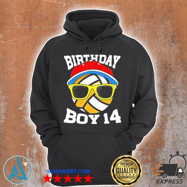 14th birthday boys 14 years old volleyball s Unisex Hoodie