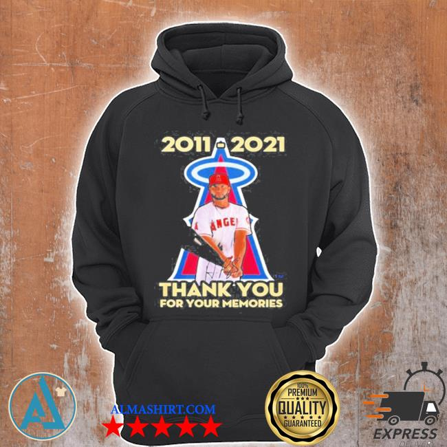 Albert pujols 2011 2021 thank you for your memories s Unisex Hoodie