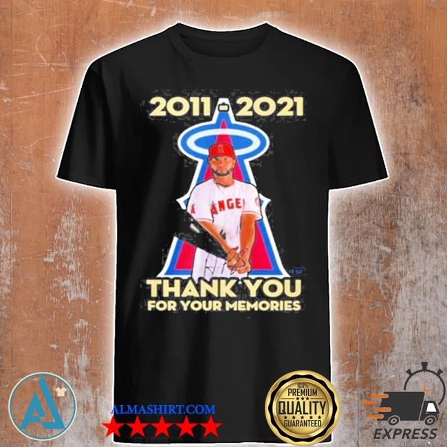 Albert pujols 2011 2021 thank you for your memories shirt