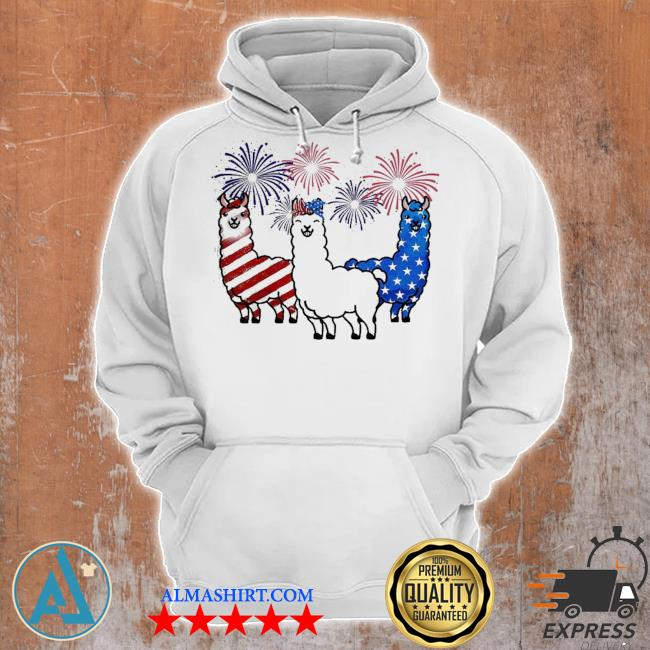 American flag colors llama lovers 4th of july s Unisex Hoodie
