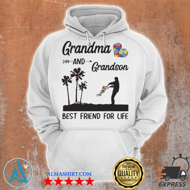 Autism awareness grandma and grandson best friend for life new s Unisex Hoodie