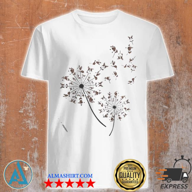 Awesome corgI dandelion flower shirt