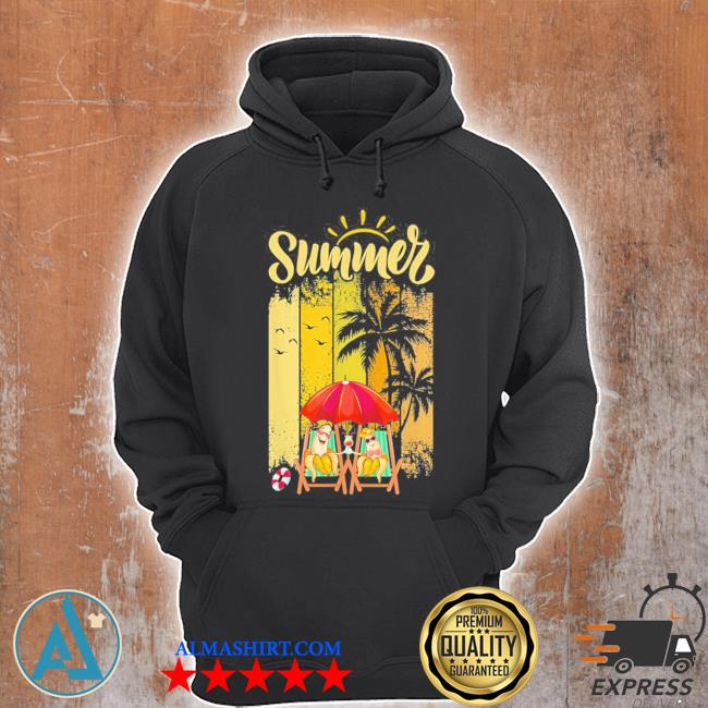 Banana couple in beach funny summer vacation new 2021 s Unisex Hoodie