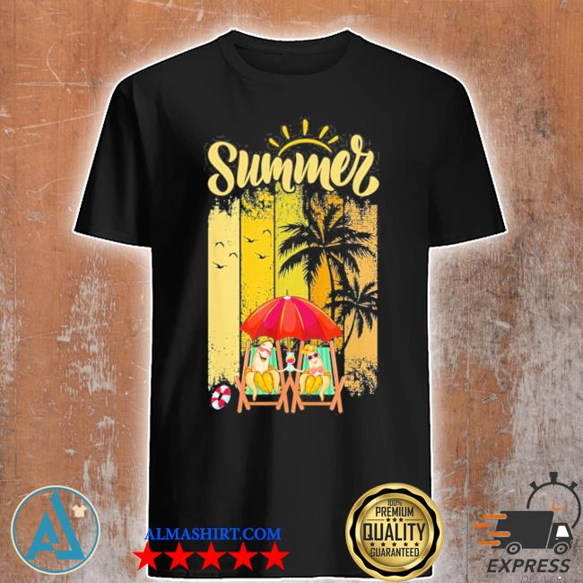 Banana couple in beach funny summer vacation new 2021 shirt