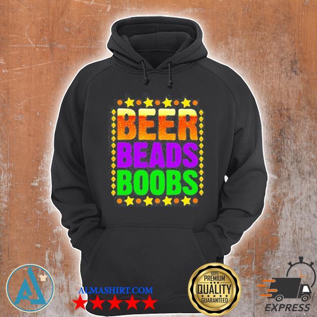 Beer beads boobs mardI gras new orleans s Unisex Hoodie