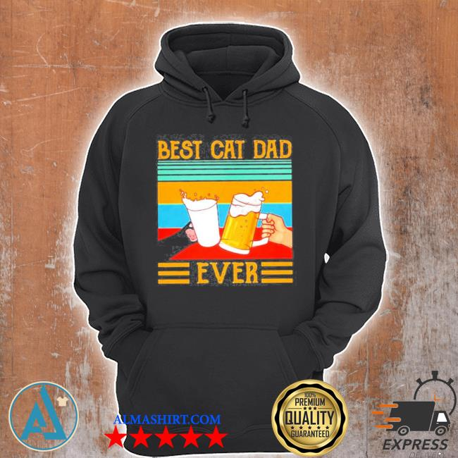 Best cat dad ever vintage s Unisex Hoodie