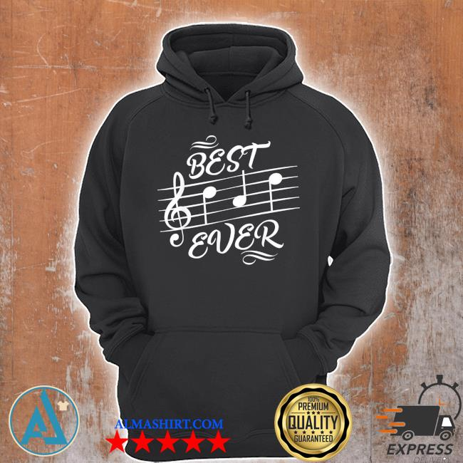 Best dad ever music notes musician s Unisex Hoodie