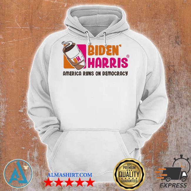 Biden Harris 2021 America runs on democracy s Unisex Hoodie