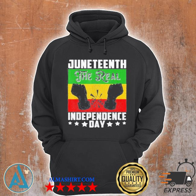 Black freedom juneteenththe real independence freedom day s Unisex Hoodie