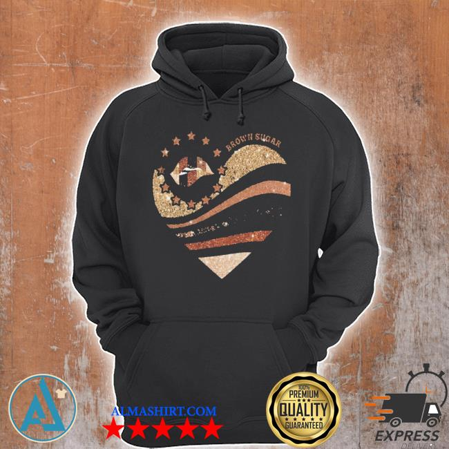 Brown sugar heart diamond s Unisex Hoodie