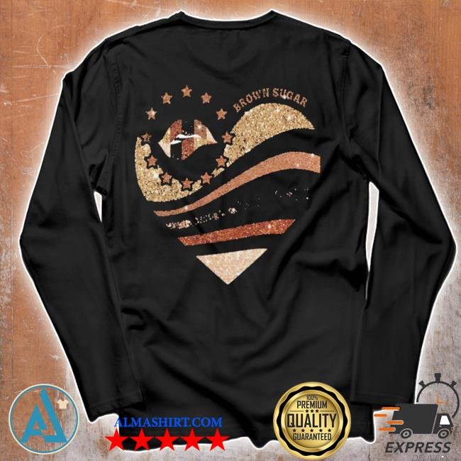Brown sugar heart diamond s Unisex longsleeve