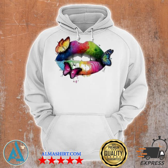 Butterfly lips womens fashion 3d print s Unisex Hoodie