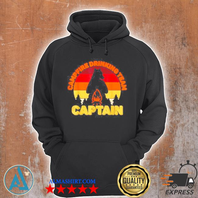 Campfire drinking team captain camping bears vintage s Unisex Hoodie