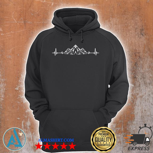 Camping outdoor mountain hiker heartbeat gift sport hiking hot s Unisex Hoodie