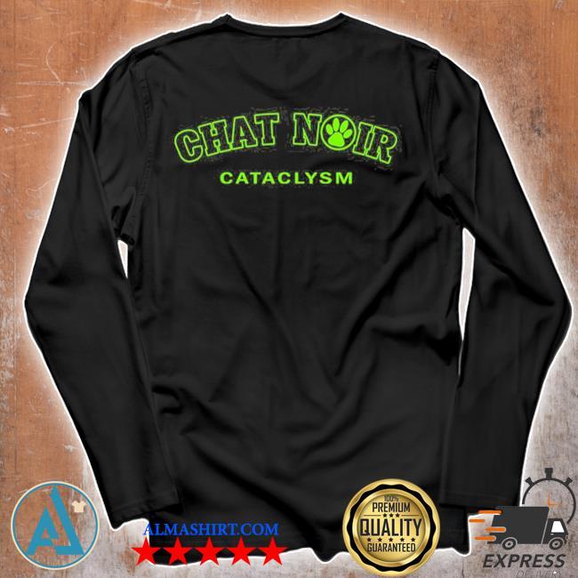 Chat noir cat green version miraculous marI chat adrienette marinette ladybug cataclysm chat noir cat noir s Unisex longsleeve