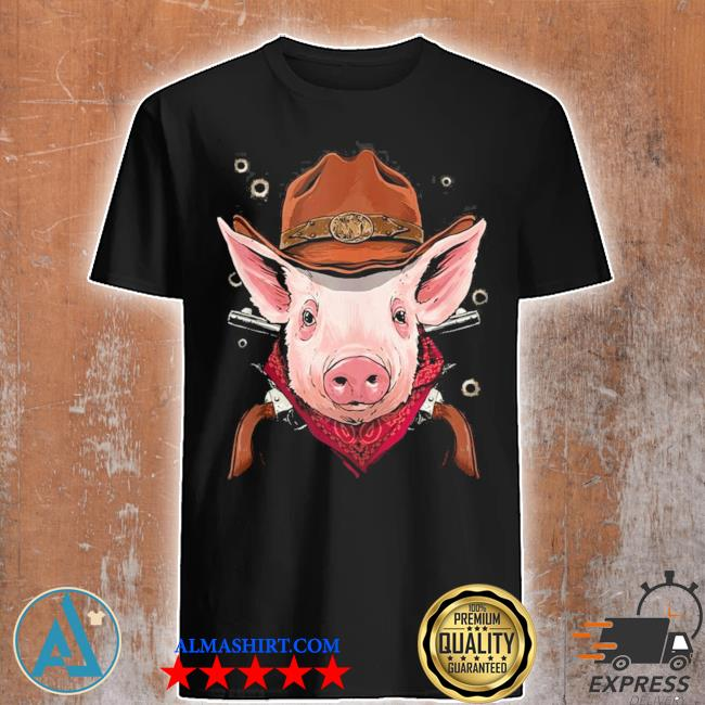 Cowboy pig western rodeo cowboy hat and bandana new 2021 shirt