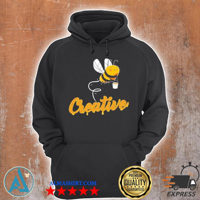 Creative bee smiling honey bee lover s Unisex Hoodie