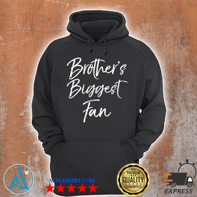 Cute soccer sister gift sibling brothers biggest fan new 2021 s Unisex Hoodie